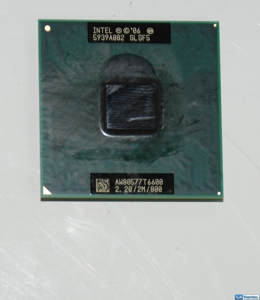 Genuine Intel Core 2 duo T6600 2.2GHz CPU Processor Laptop SLGFS TESTED