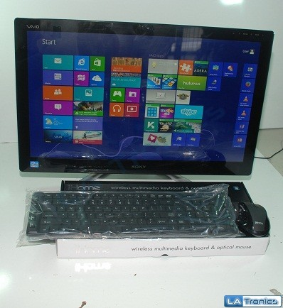 """Sony Vaio SVL24125CXB 24"""" Touch Intel i5-3210M 8GB 2TB HDD All In One w/ iHome"""