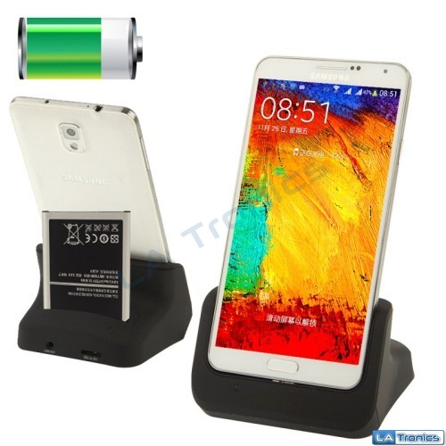 NEW 2-In-1 USB Battery Charger + Craddle Dock Station Samsung Galaxy Note 3 III