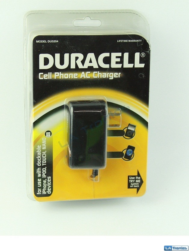 NEW Duracell AC Wall Charger For iPod iPhone 2G 3/3G/3GS 4/4S Nano Touch DU5204