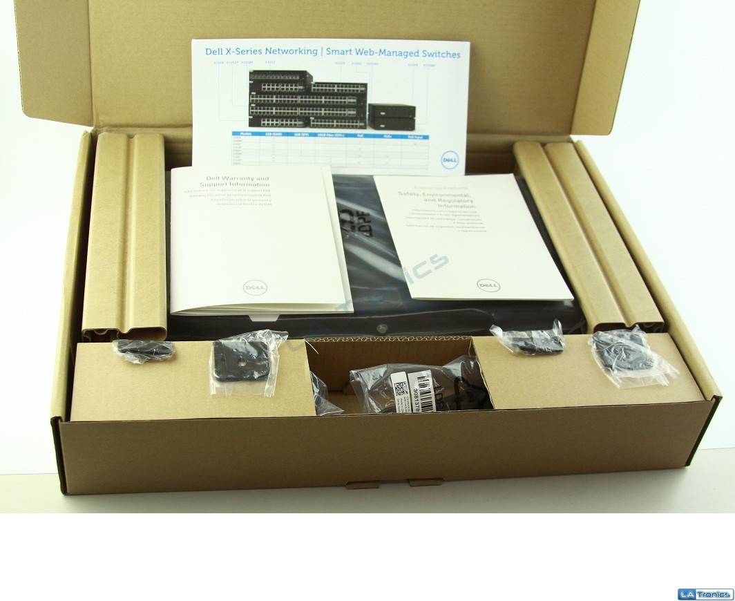 NEW Dell X1000 Series Networking Switch X1018P 16 Ports -Managed- Rack-Mountable