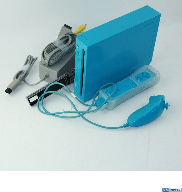 Nintendo Wii Limited Edition Blue Video Game Console RVL-101