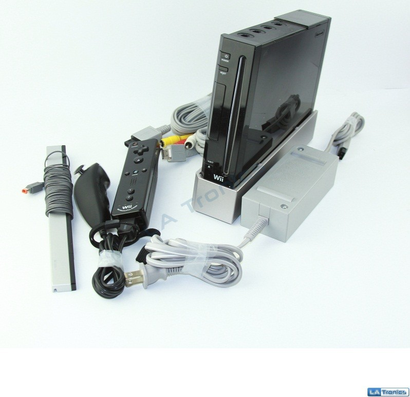 Nintendo Wii RVL-001 Black Gaming System Console *READ*