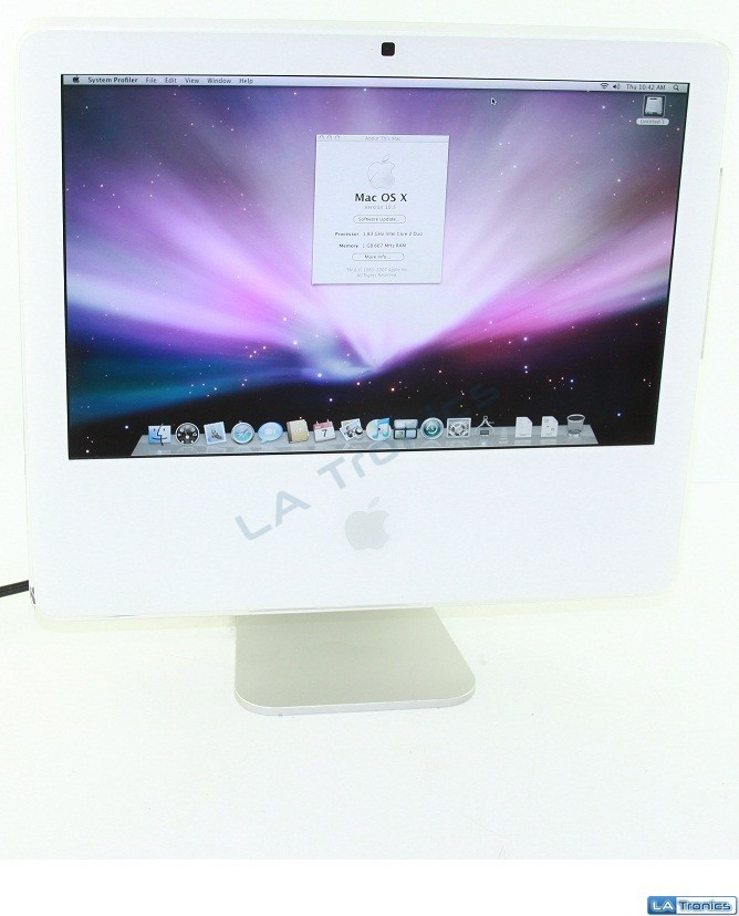 "Apple iMac 17"" A1195 Late 2006 Intel Core 2 Duo 1.8Hz 1GB 250GB HDD MA710LL/A"