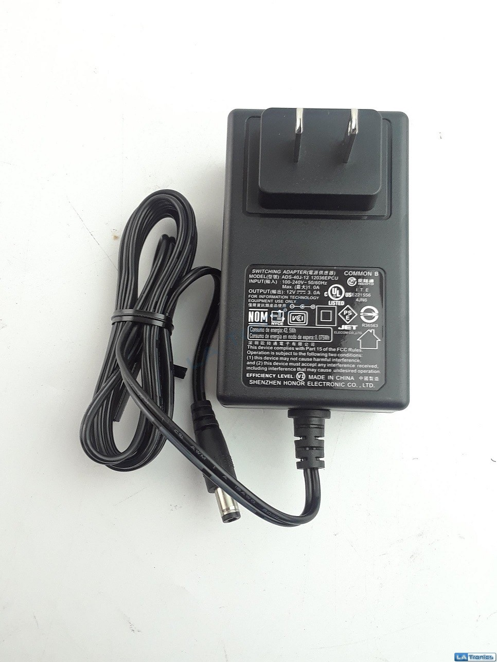 Honor Electronic AC Adapter Power Supply Switching Adapter 12V 3A ADS-40J-12