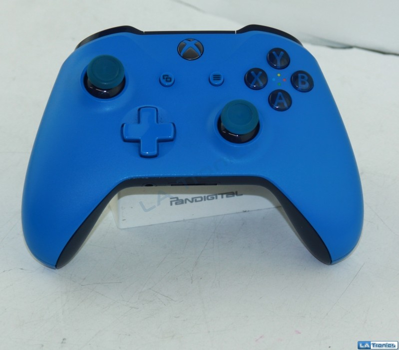 Genuine Microsoft Blue Xbox One Wireless Controller WL3-00018 1708 Tested