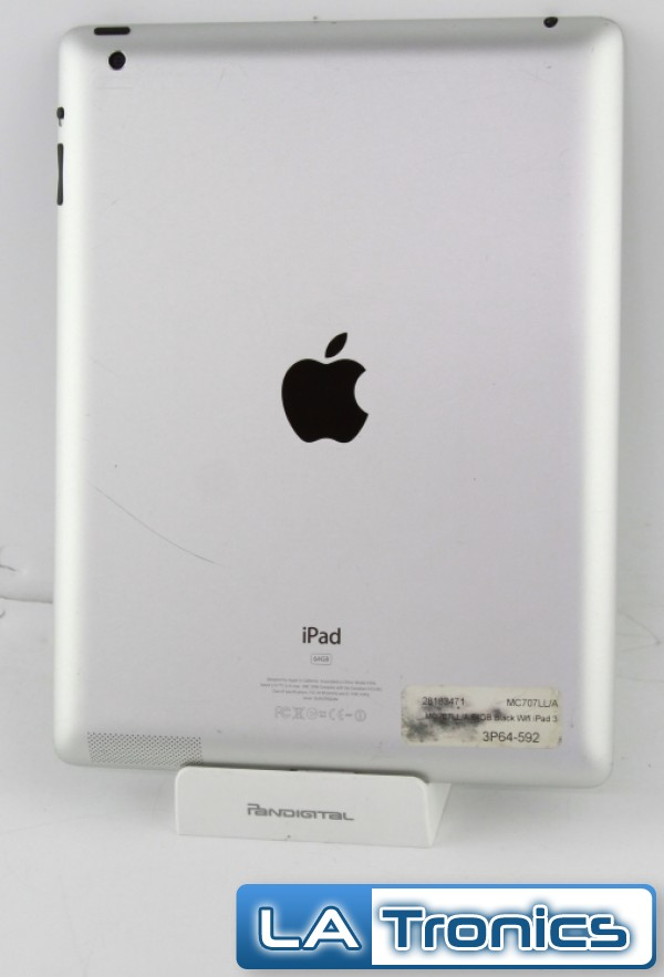 Apple iPad A1416 Gen 3 MC707LL/A Back Cover Housing + Battery A1398 Grade