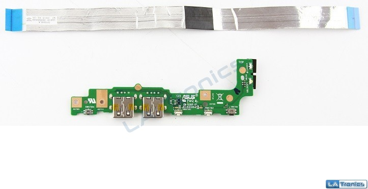 """Genuine OEM Asus TP500L 15.6"""" USB Power Button LED Board w/Cable 14010-00069300"""