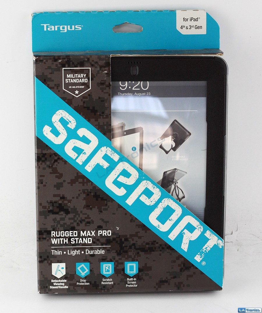 Targus SafePORT Rugged Max Pro Case w/ Stand for iPad THD064US - Black