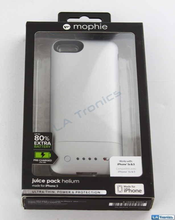New Mophie Juice Pack Helium 2251 for Iphone 5 Recharging Portable Case - SILVER
