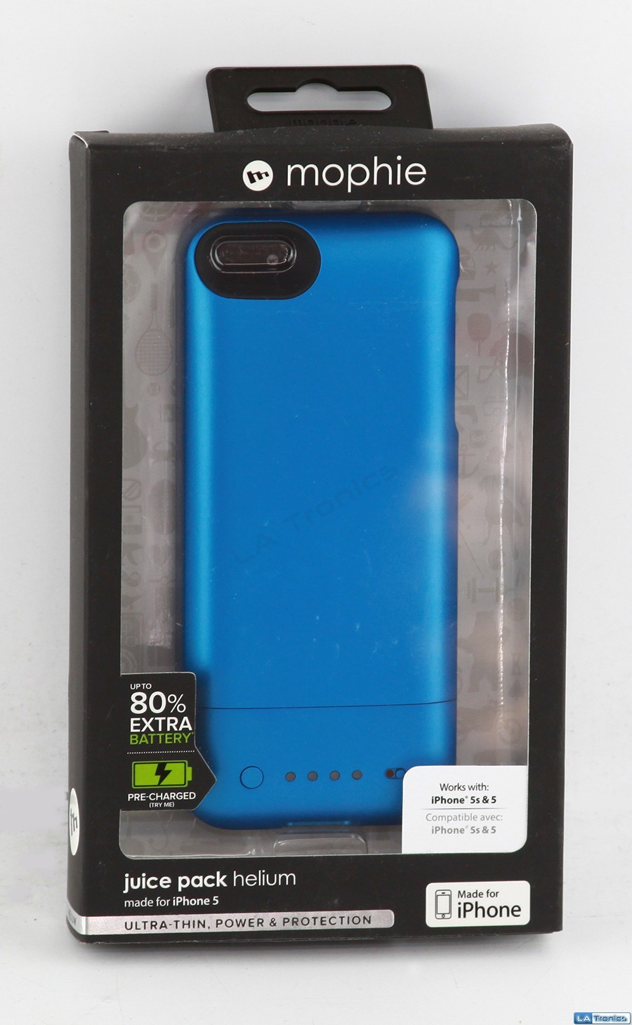 New Mophie Juice Pack Helium 2467 for Iphone 5 Recharging Portable Case - BLUE