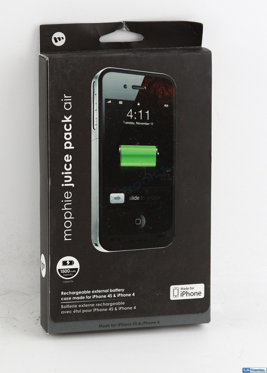 New Mophie Juice Pack Air Case 1145 for iPhone 4/4S - BLACK
