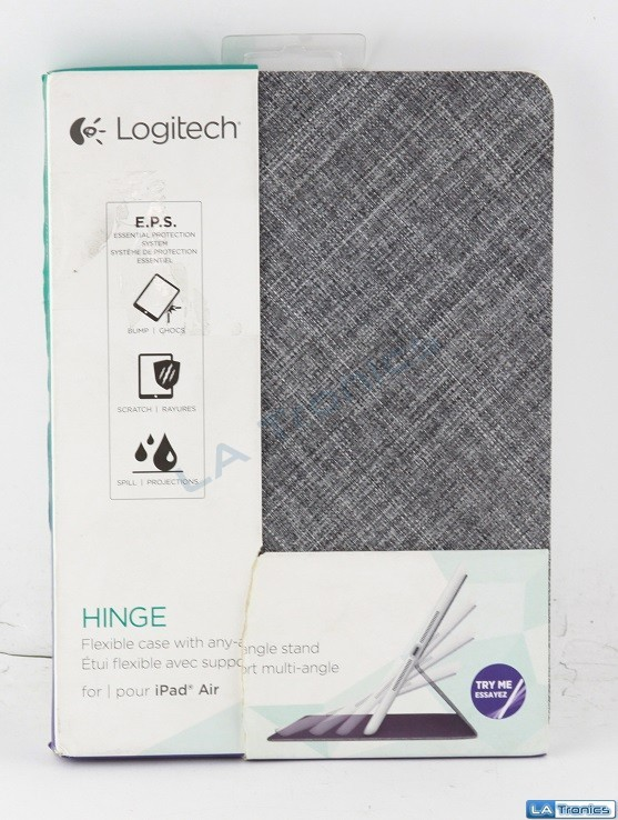 Logitech HINGE Flexible Case w/ Any Angle Stand for Apple iPad Air - Mid-Gray