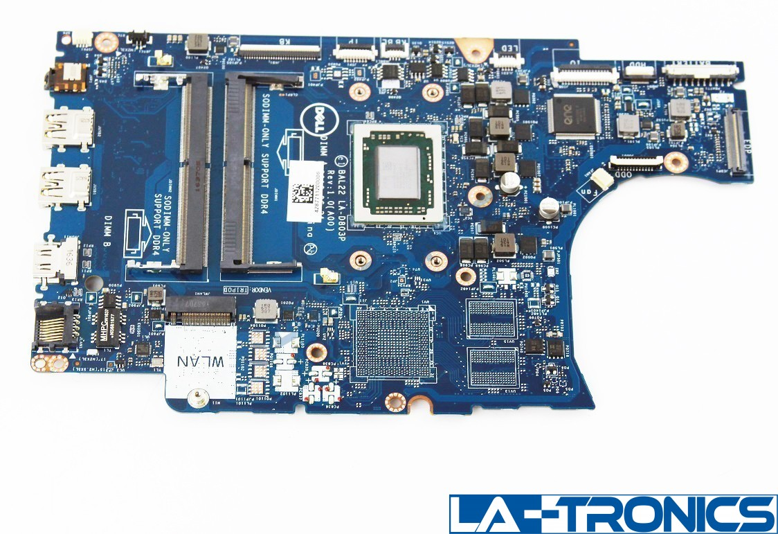 NEW Dell Inspiron 15 5565 Laptop Motherboard AMD A12-9700P 2.5GHz N7GMF 0N7GMF