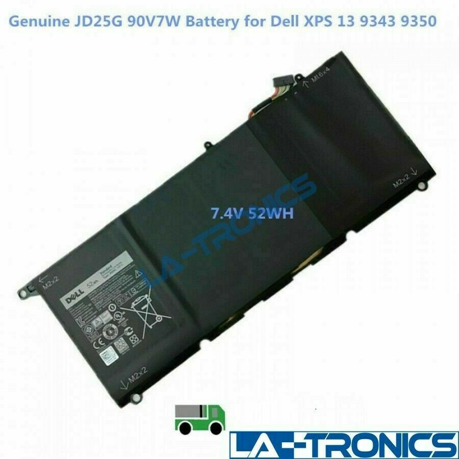 Genuine OEM JD25G Battery For Dell XPS 13 (9343) (9350) 90V7W JHXPY 5K9CP 52WH