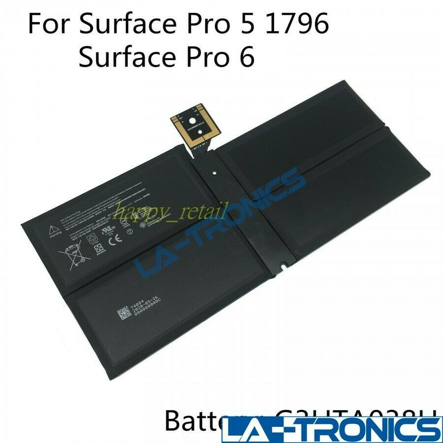 Genuine Microsoft Surface Pro 5 6 1796 G3HTA038H 45Wh Tablet Battery DYNM02