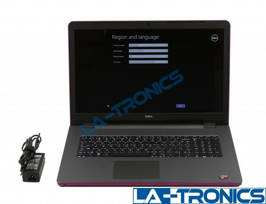 "Dell Inspiron 17 5755 17.3"" Laptop AMD A8 2.2GHz 12GB RAM 2TB HDD"