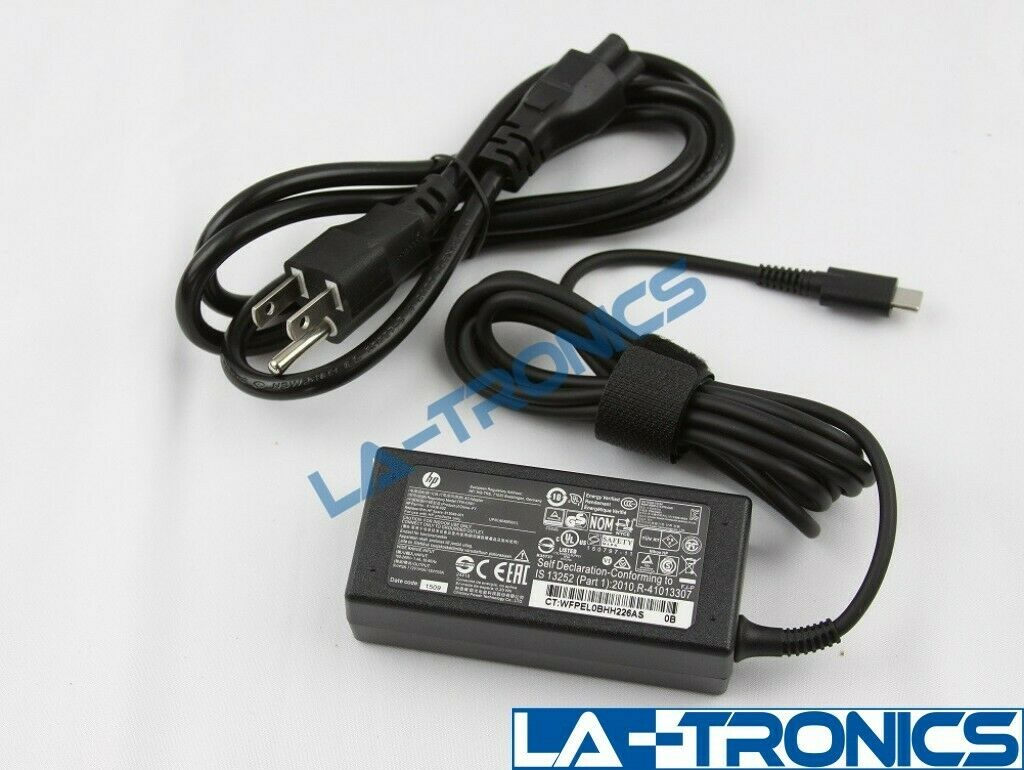 New Genuine HP Chromebook 45w USB-C AC Power Adapter Charger 934739-850 L43407