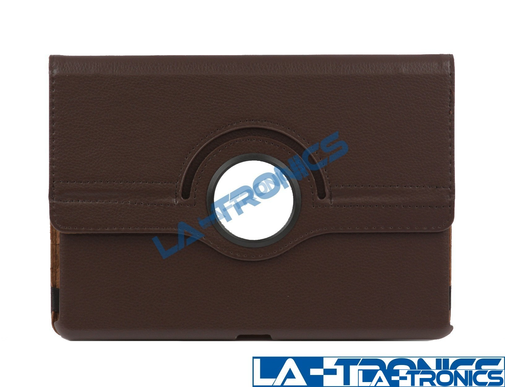 360 Rotating Brown Leather Folio Case Cover Stand For IPad 8th Gen 11