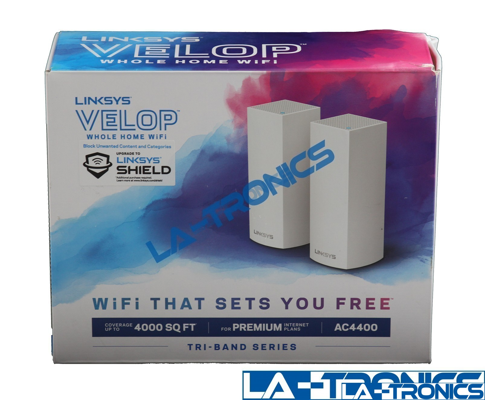 Linksys VELOP Wireless AC4400 Tri-Band Whole Home Mesh Wi-Fi System