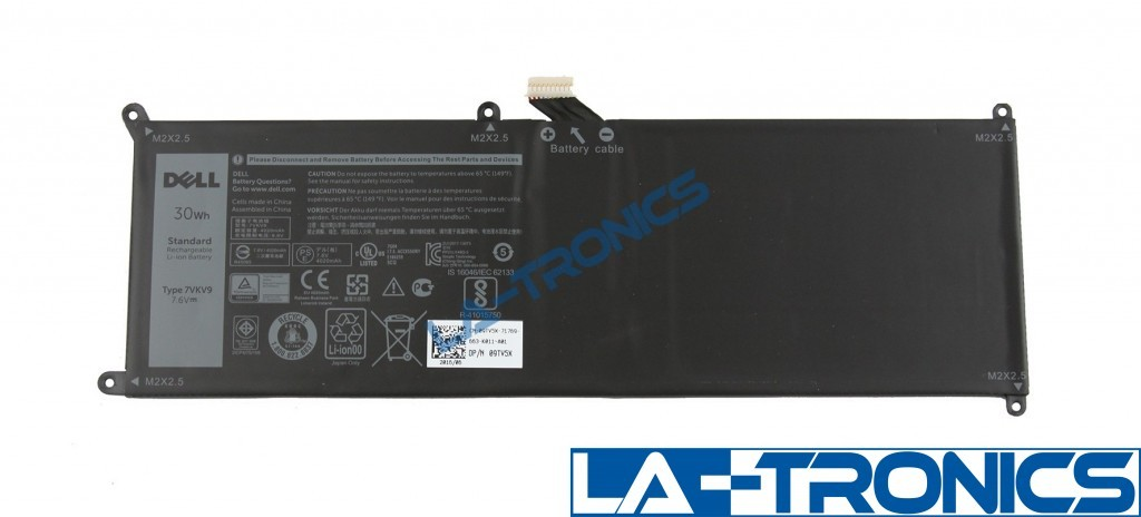 Genuine Dell Latitude 7275/XPS 9250 30Wh 7.6V Laptop Tablet Battery 9TVGX