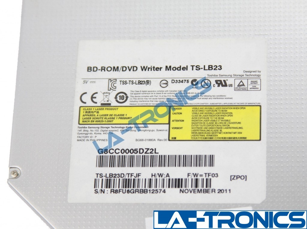 Toshiba P745-Series Blu-ray DVD-RW Optical Drive TS-LB23 K000128680