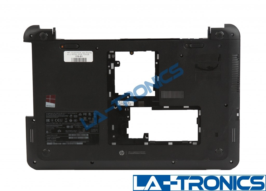 """Genuine HP 15-D035DX 15.6"""" Bottom Case Cover w/ Speakers 747112-001 1A32FSF00600"""