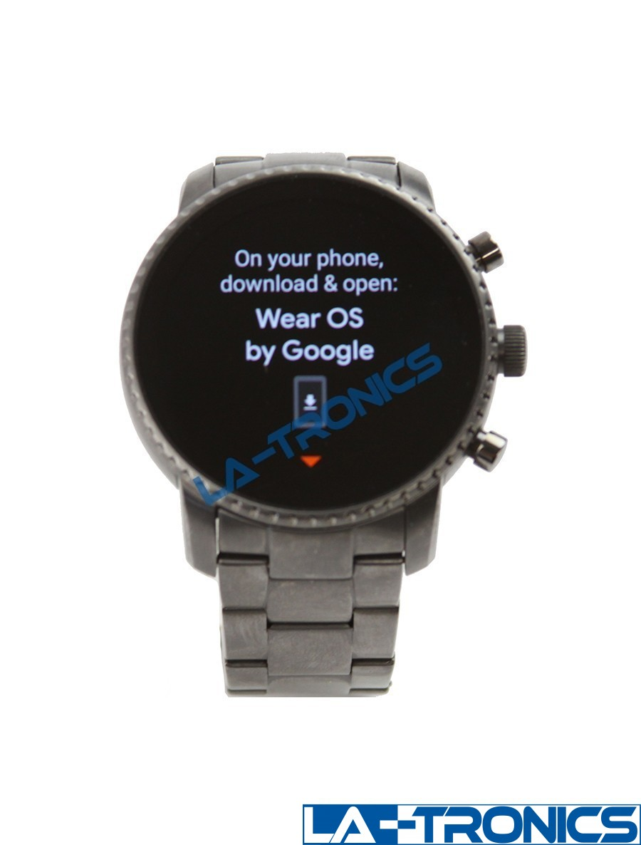 Fossil Gen 4 Explorist HR 45mm Touch Screen Smart Watch - Smoke Stainless Steel