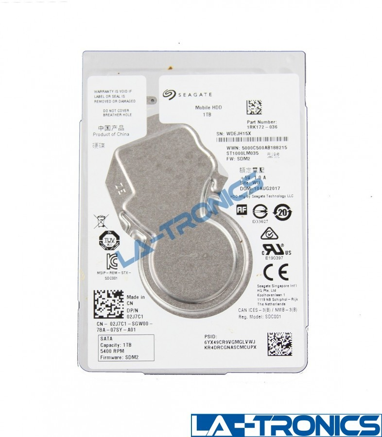 "Seagate Mobile Internal 2.5"" 1TB SATA III Laptop Hard Drive HDD ST1000LM035"