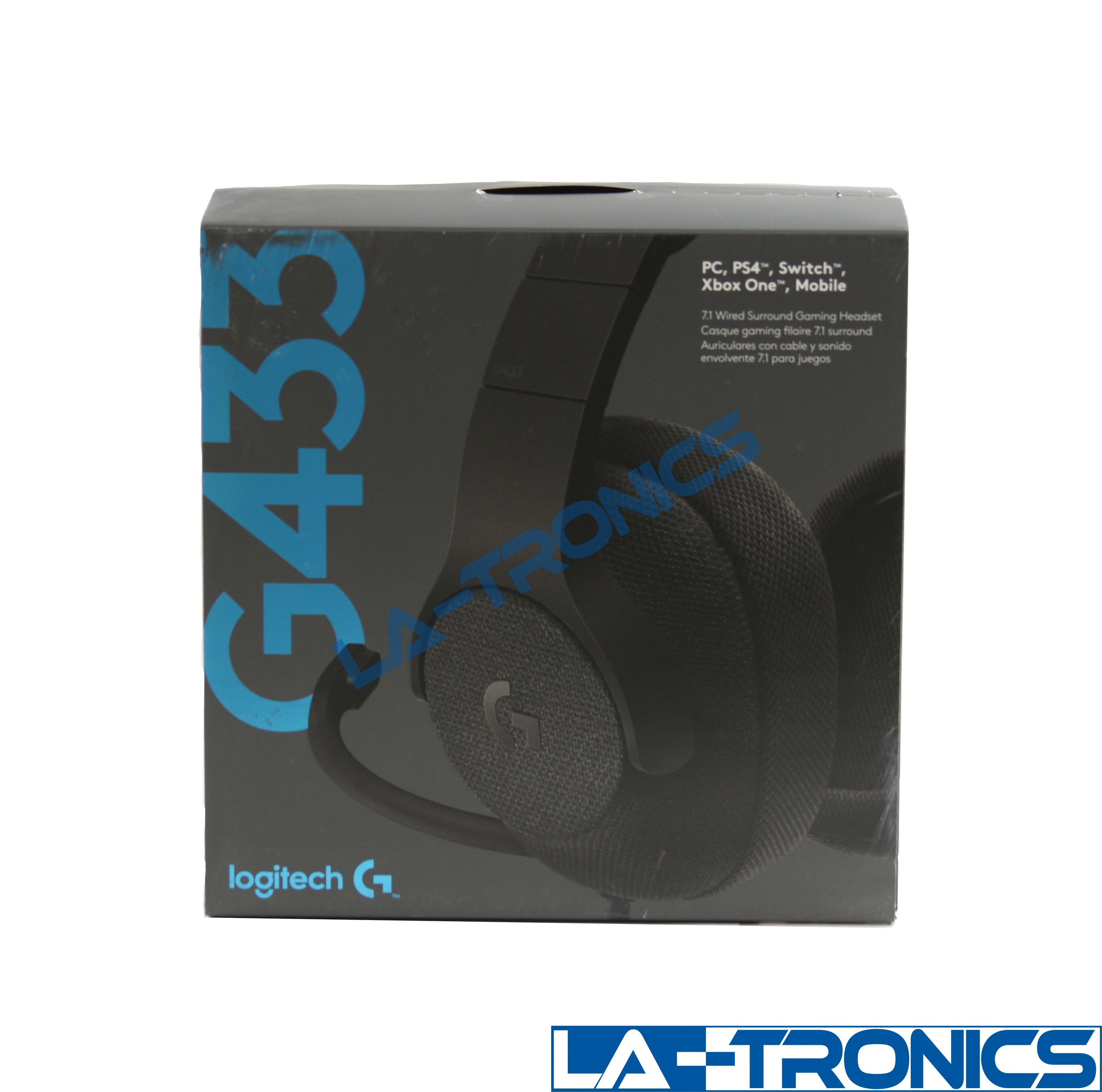 Logitech G433 7.1 Wired Surround Gaming Headset - Black