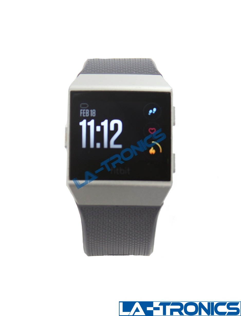 Fitbit Ionic Smart Fitness Watch Blue Gray/Silver Gray GPS Activity Tracker