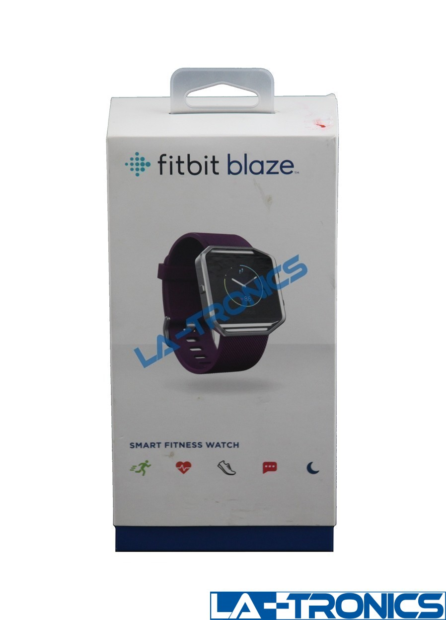 Fitbit Blaze Smart Fitness Activity Tracker Watch FB502SPML Plum Size - Large