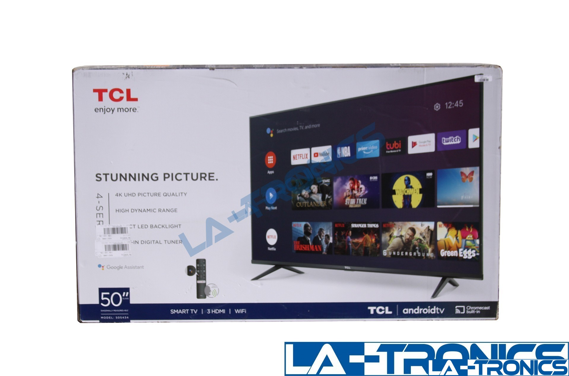 """TCL 50"""" Class 50S434 4-Series 4K UHD LED Smart Android TV"""
