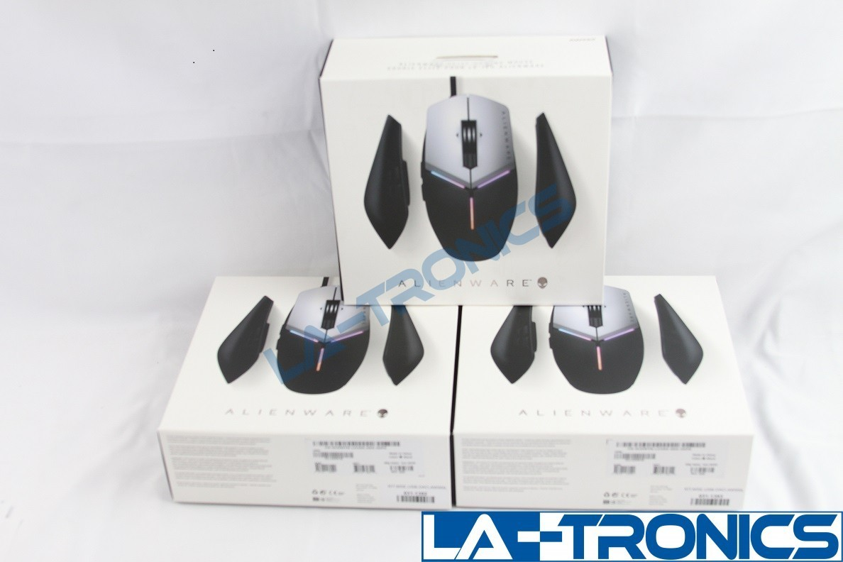 Alienware AW959 Elite Wired Optical Gaming Mouse RGB Lighting Black & Silver