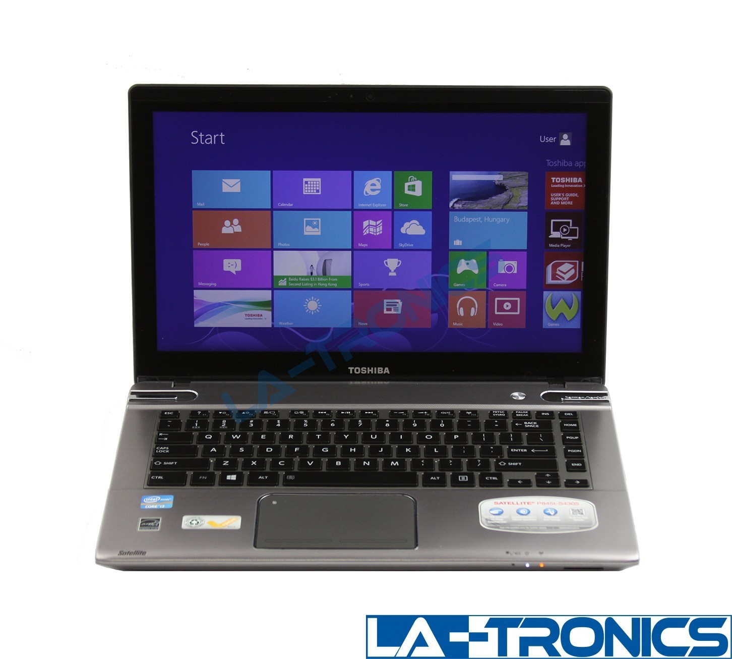 "Toshiba Satellite P845t 14"" i3 1.8GHz 4GB RAM 500GB HDD Win 10 Touch Laptop"