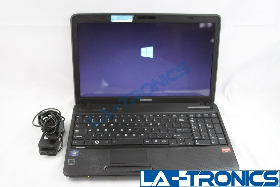"Toshiba Satellite C655D-S5130 15.6"" AMD E240 4GB 1.5GHz 320GB HDD Win 10 Pro"