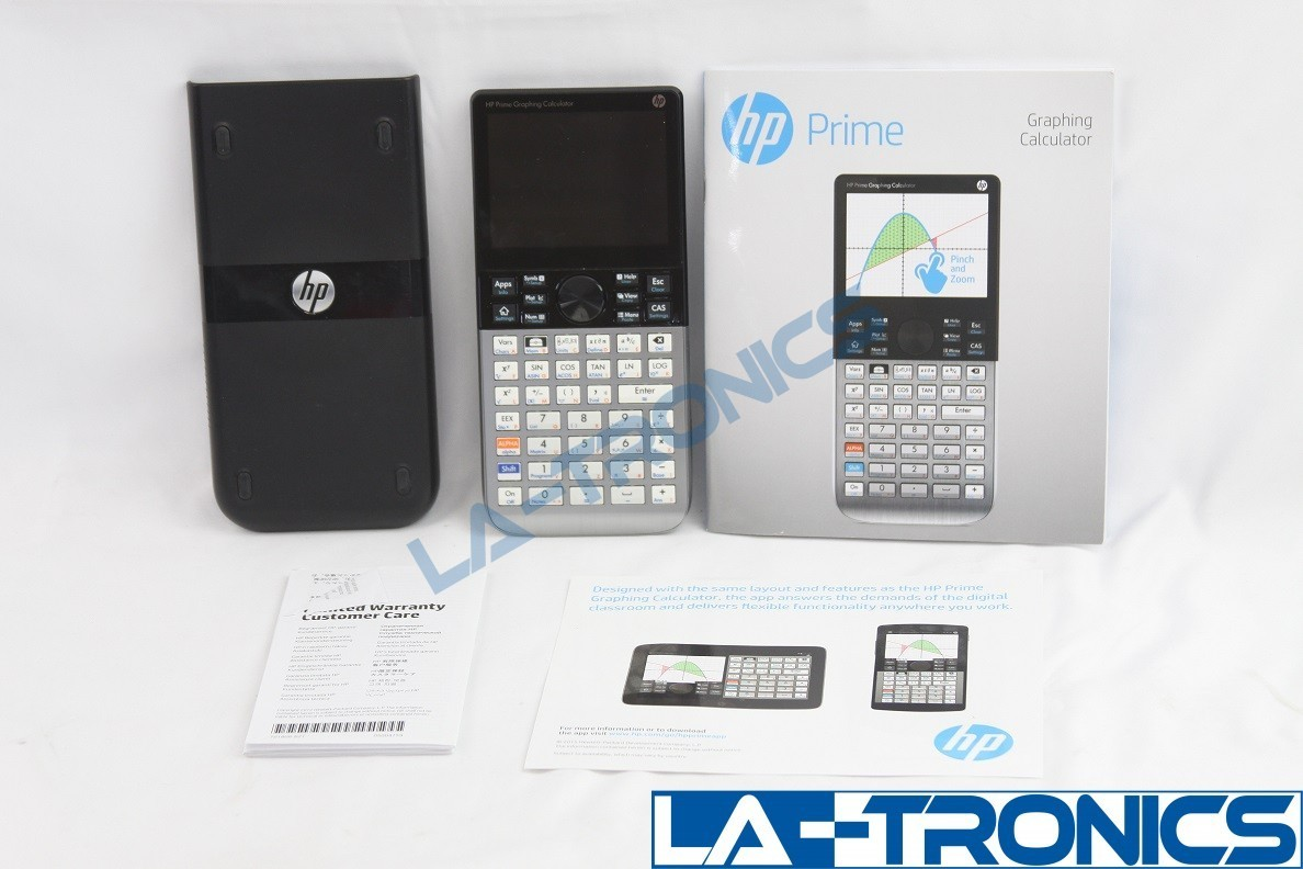 HP Prime Graphing Calculator Touch Screen With Manual