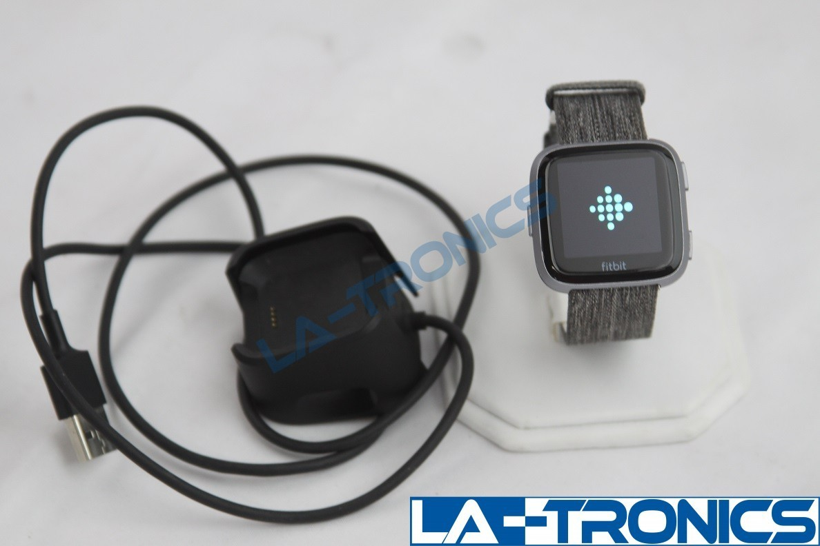 Fitbit FB505BKGY Versa Special Edition - Charcoal With Woven Small Bands