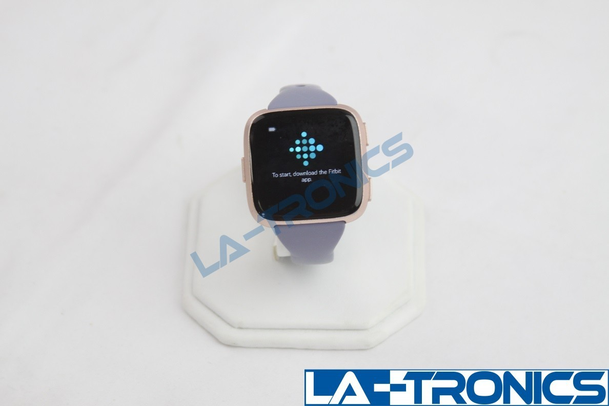 Fitbit Versa Special Edition Smart Watch Rose Gold With Lavender Bands FB505RGLV