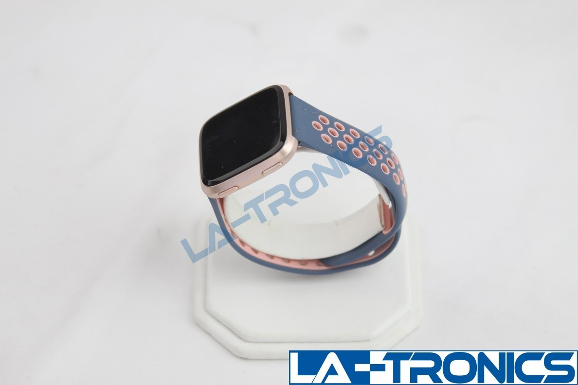 Fitbit Versa Special Edition Watch Rose Gold With Lavender/Pink Bands FB505RGLV