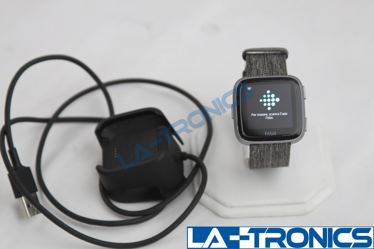 Fitbit FB505BKGY Versa Special Edition - Charcoal With Woven Large Bands