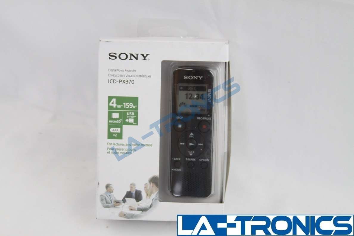 Sony PX Series ICD-PX370 4GB 159h Built in USB Mono Digital Voice Recorder