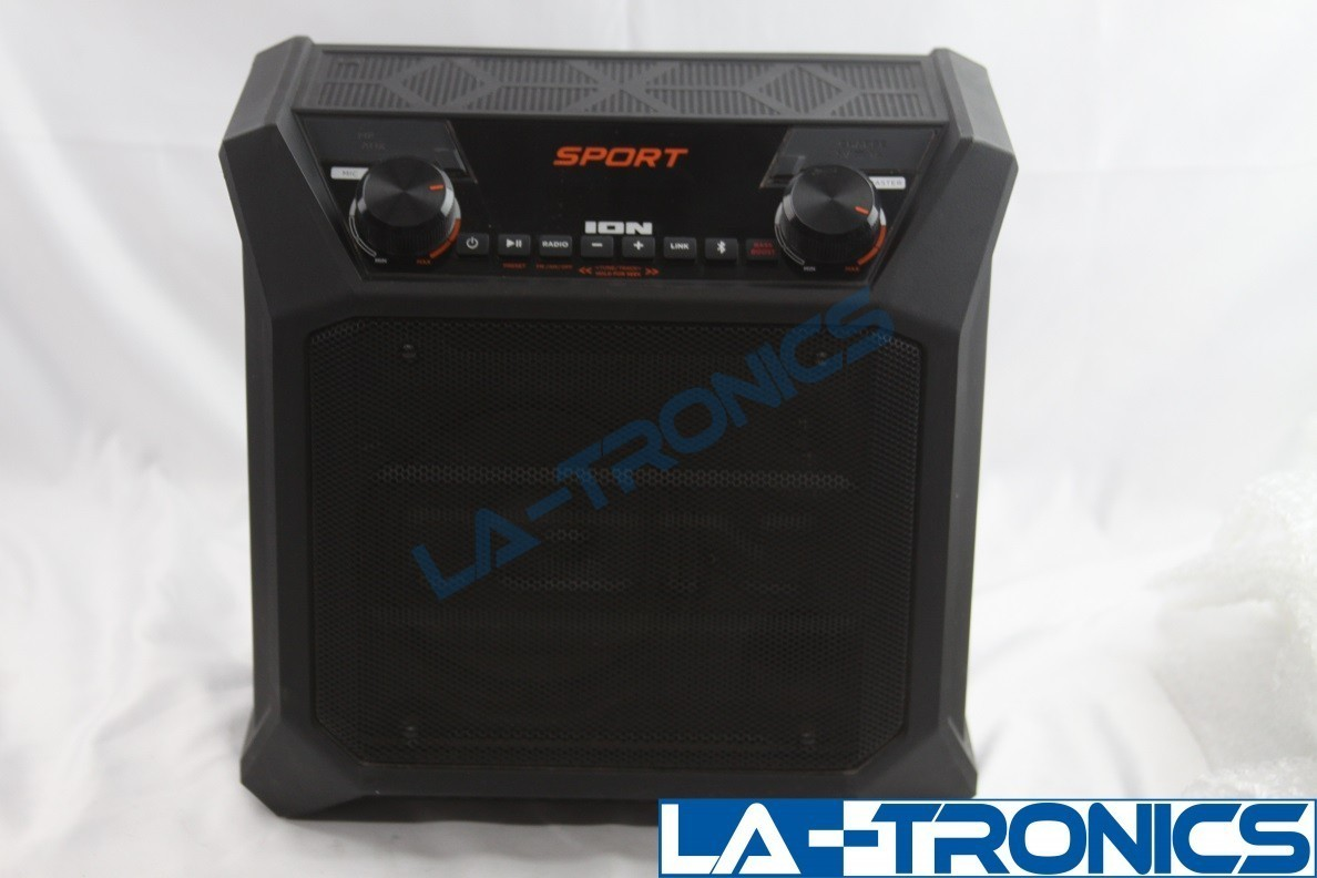 ION Sport Portable Outdoor Wireless Bluetooth Speaker USB Charge Port IPA84A