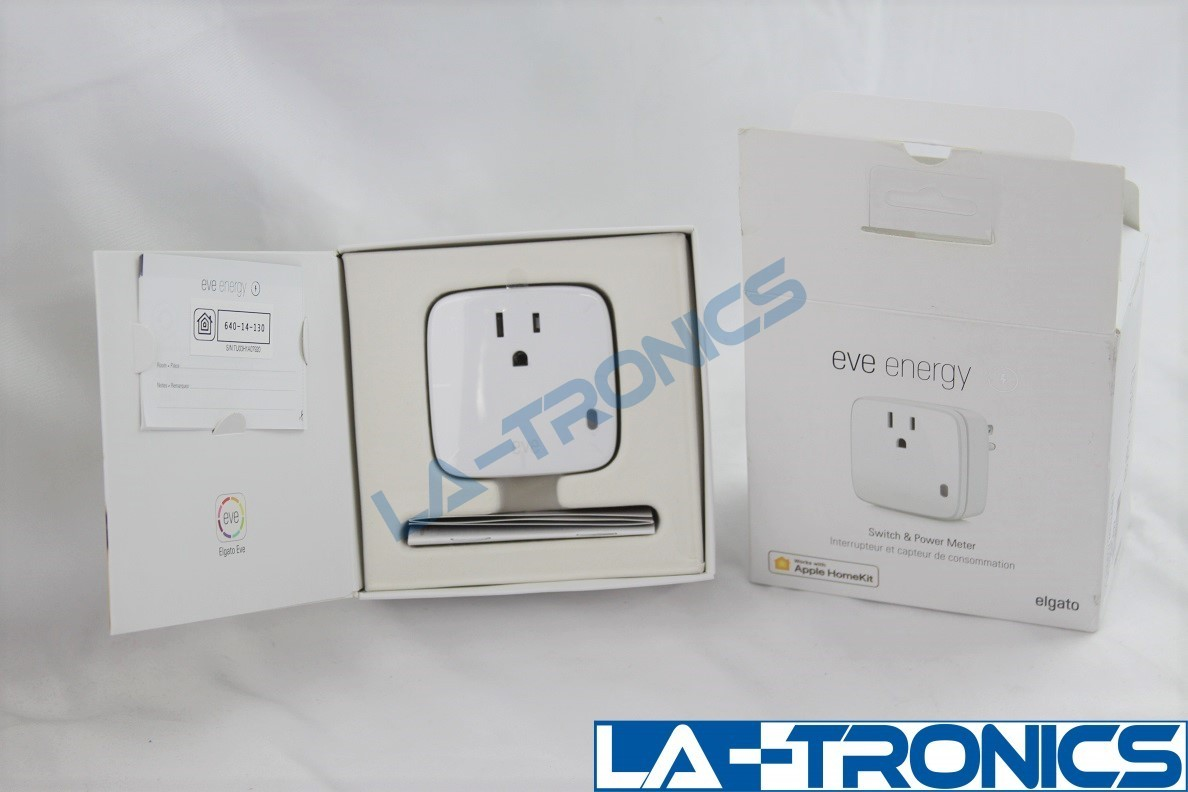 Eve Energy Smart Plug With Switch and Power Meter Works With Apple HomeKit