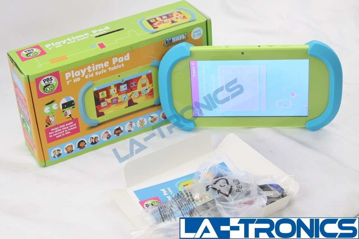 """PBS KIDS 7"""" Quad-Core 1.3GHZ 16GB Playtime Pad Kid Safe Touch Tablet Camera"""