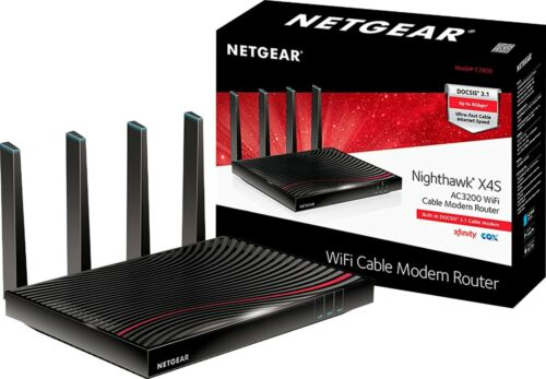 NETGEAR C7800 Cable Modem And Wireless Router Wired Ethernet Ports