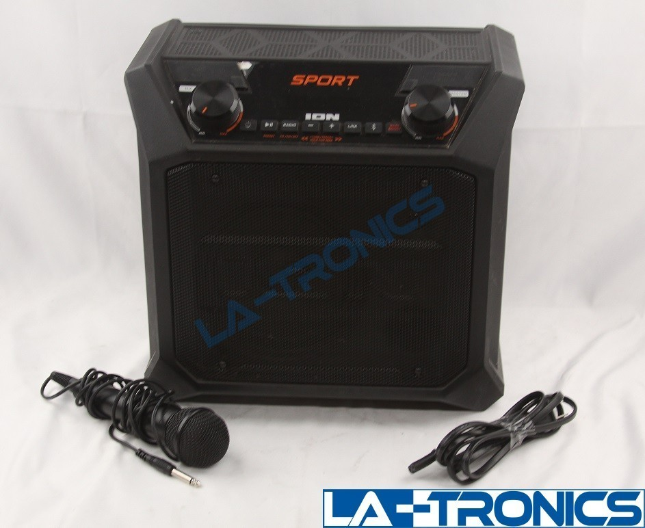 ION Audio Sport Tailgate Portable PA Speaker Black SPORTAXUS With Microphone