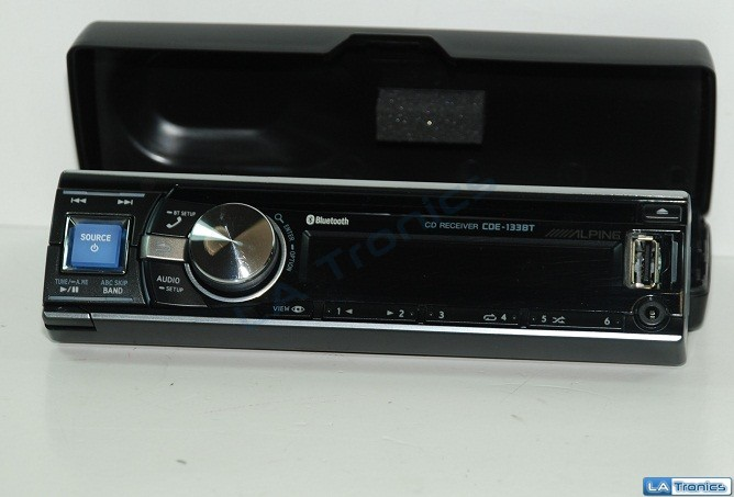 Alpine CDE-133BT In-Dash Car Stereo CD/MP3/WMA + USB/AUX Input FACE/CASE ONLY