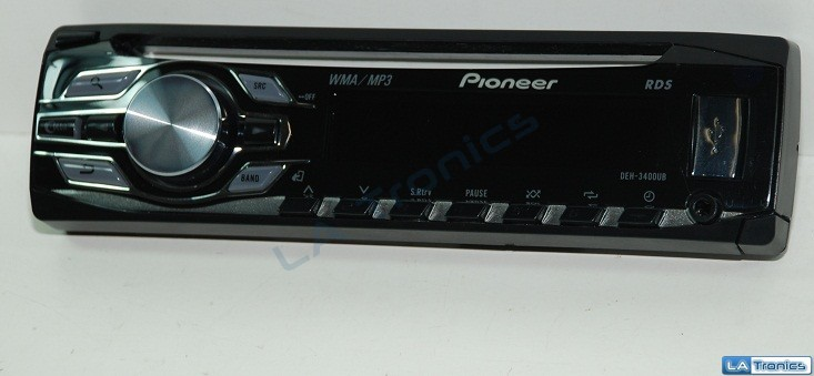 Pioneer RDS DEH-3400UB In-Dash Car Stereo Receiver + USB/AUX Input Faceplate