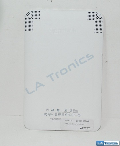 Amazon Kindle Keyboard White Back Battery Door Cover Genuine Excellent Condition